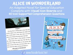 Alice In Wonderland- An Adapted Novel for Students with Autism and SpEd.