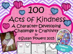 100 Acts of Kindness Challenge and Craftivity