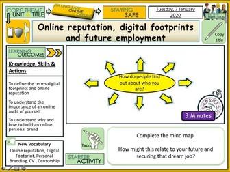 Online Reputation + Digital Footprints PSHE