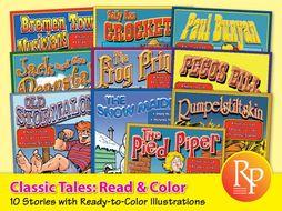 Classic Tales: Read & Color {Bundle}