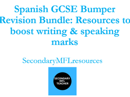 Spanish GCSE Bumper Revision Bundle: 20 resource packs to boost writing & speaking marks