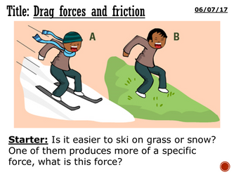Drag forces and friction - complete lesson (KS3)