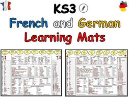 French and German KS3 Learning Mats