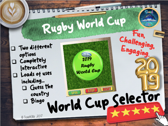 Rugby World Cup Selector