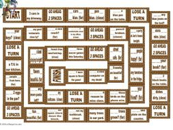 There is There are versus Demonstratives Animated Board Game