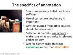 Sketchbook annotation advice