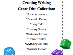 Story Starters - 8 Genres Dice Collection - Make your own story dice