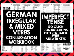 GERMAN IRREGULAR VERBS IMPERFECT TENSE