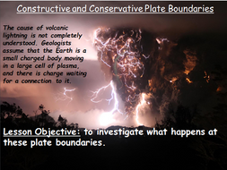 GCSE KS4 Constructive and Conservative Plate Boundaries