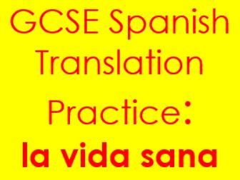 Spanish GCSE Health & Sport Translation Drills (into Spanish & English)
