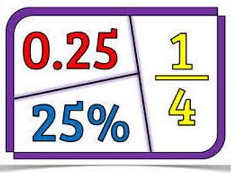 9 Fractions, Decimals and Percentages Activities (7 - 11yrs)