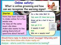 Online Grooming - Online Safety PSHE
