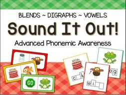 Phonemic Awareness Centers: Blends, Digraphs, Vowels
