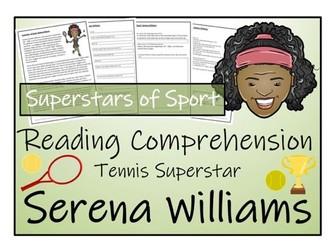 UKS2 Literacy - Serena Williams Reading Comprehension Activity