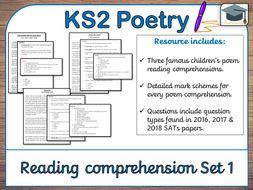 poetry reading comprehensions set 1 ks2 revision by galvaniseedu teaching resources. Black Bedroom Furniture Sets. Home Design Ideas