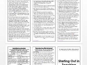 Aide Memoire: Starting Out in Teaching