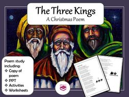 The Three Kings Christmas Poem: PPT, activities and worksheets
