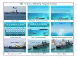 Battleship English PowerPoint Game Template FREE READ ONLY SHOW