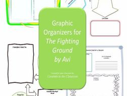 Graphic Organizers Plus Crossword Puzzles  for The Fighting Ground by Avi