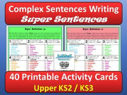 Complex Sentences Writing Activity
