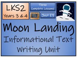 LKS2 History - The Moon Landing Informational Text Writing Activity