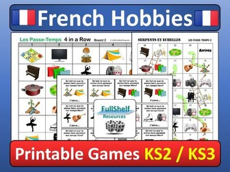 Hobbies in French Games (Les Passe-Temps)