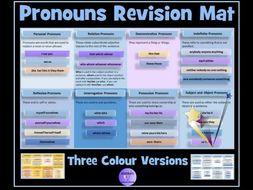 Pronouns : SATS Revision Mat