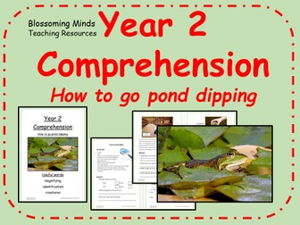 Year 2 non-fiction comprehension - How to go pond dipping