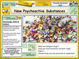 Drugs - NPS New Psychoactive Substances