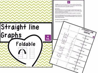 Straight Line Graphs (Foldable)