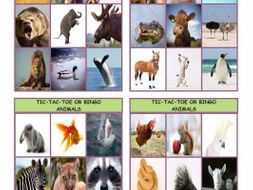 Animals Tic-Tac-Toe or Bingo