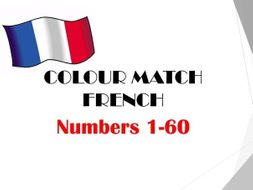 Numbers 1-60 COLOUR MATCH (French)