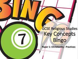 Key Concepts Bingo AQA GCSE Christian Practices