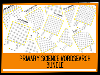 20 primary science wordsearches