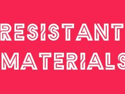 DT-RESISTANT MATERIALS-YEAR-2/3-MATERIALS PRE-ASSESSMENT