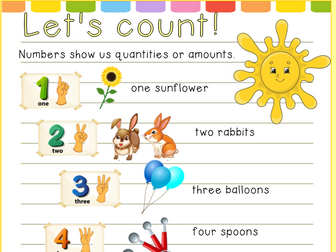 Counting 1 - 5 Four worksheets