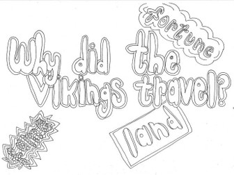 Why did the Vikings Travel? (History) Colouring Page