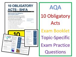 AQA Islam Practices: Ten Obligatory Acts Shi'a Islam - Exam Booklet