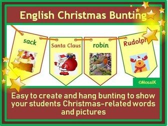 English: 30 flags of Christmas bunting