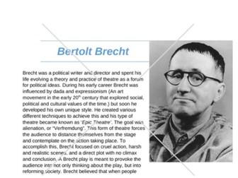 KS4/5 DRAMA Brecht case file