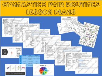 Gymnastics pair routines lesson plans/ Scheme of work (all resources included)