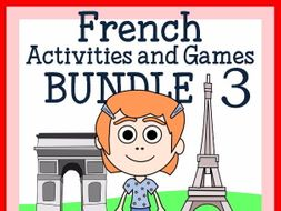 French for Kids 3 - Bundle of 5 French booklets - wks, games and more
