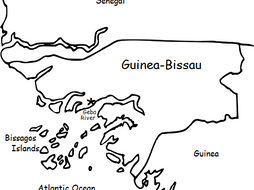 GUINEA-BISSAU - Printable handout with map and flag