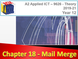 AS A2 ICT - 9626 - Unit 18 - Mail Merge - Delivery Materials and Sample Tasks