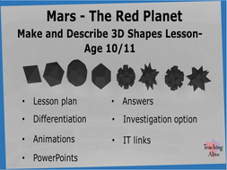 Age 10/11 Make and Describe 3D Shapes Lesson
