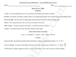 Brain Teasers Worksheet MD1 - Math problems & puzzles (Medium Difficulty)