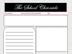 newspaper template free by oldham30 teaching resources tes