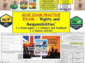 New 9-1 GCSE Citizenship Exam Assessment: Rights and Responsibilities: