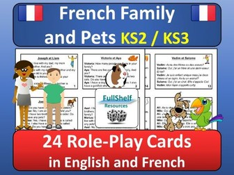 French Family and Pets Role Play