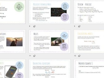 AQA GCSE Chemistry - More Chemical Calculations